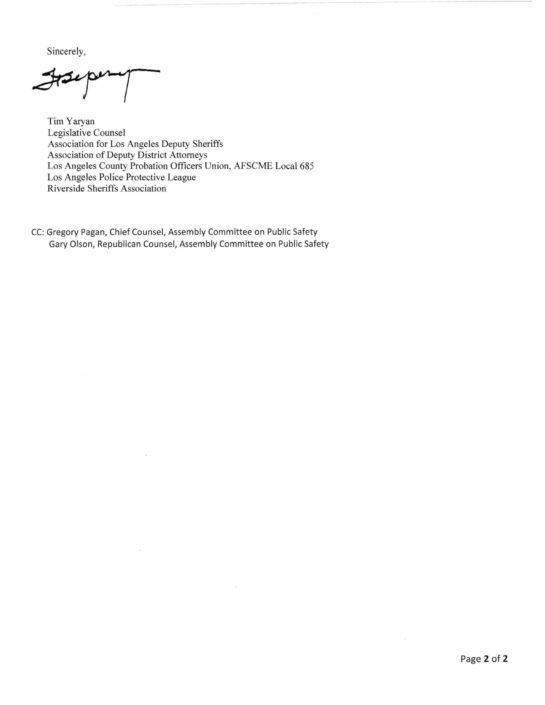 Letter in support of AB 1120