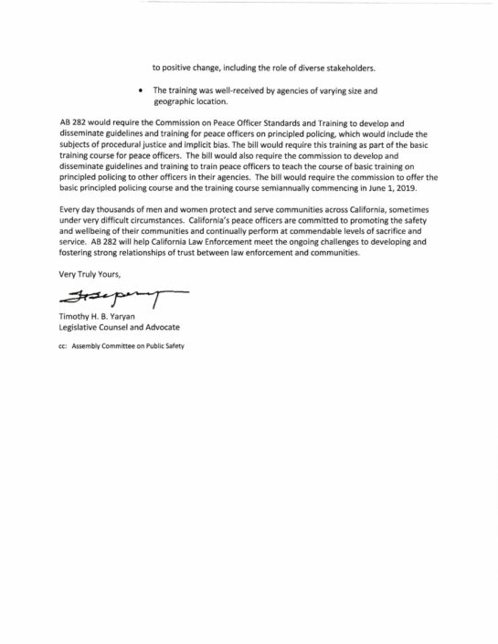 Graphic of a letter regarding AB 683