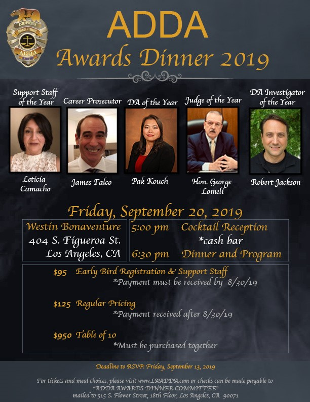 Infographic for the ADDA 2019 Awards Dinner